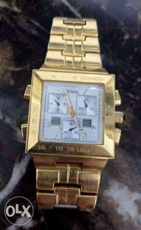 Gold plated Jovial Swiss made watch