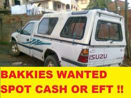 Any condition bakkies wanted