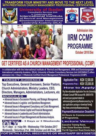 Get Certified as Church Management Professional&Advance your Ministry Ikeja - image 1