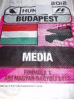 Mint RARE HUNGARIAN race weekend tabard from the F1 season in 2012.
