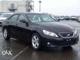 Toyota mark X black colour fully loaded.