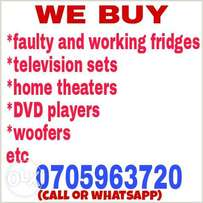 We buy house hold items