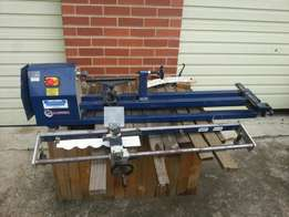 Wood lathe with copier and turning tools