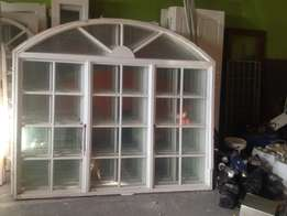 Barrel arched timber windows