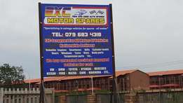 Exc Motors Spares looking for a space to rent for breaking of cars