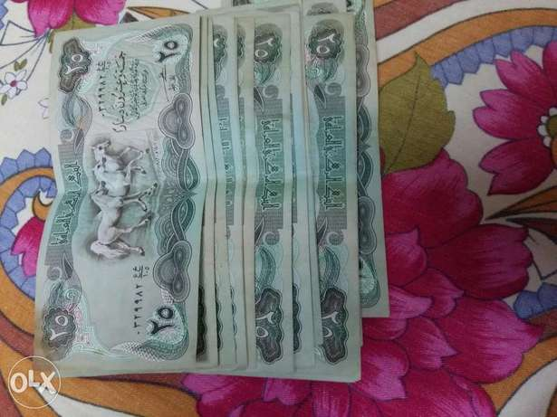 Iraqi 25 bd notes luk like new 1 bd