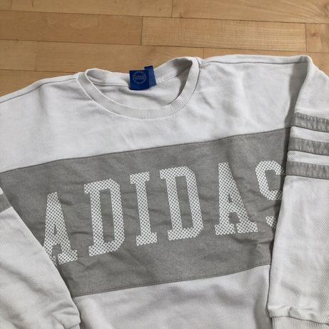 wyprzedaż hurtowa rozmiar 7 sklep internetowy Biała bluza Adidas Originals one size siatka oversize ...