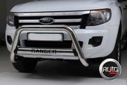 Ford Ranger Oval Nudge bar - Stainless steel
