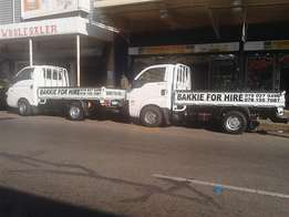 bakkie for hire R150