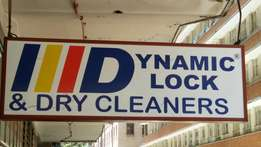 Drycleaners and locksmith