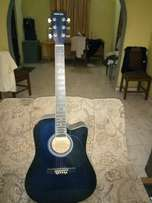 Blue acoustic guitar for sale