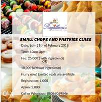 RoyalBecca's small chops and pastiries class