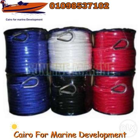 black anchor rope