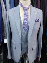 3pcs Hugo Boss Grey Color Suits