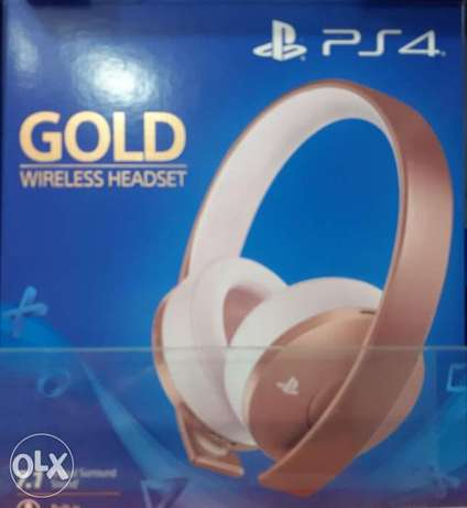 Ps4 Headset Gold new