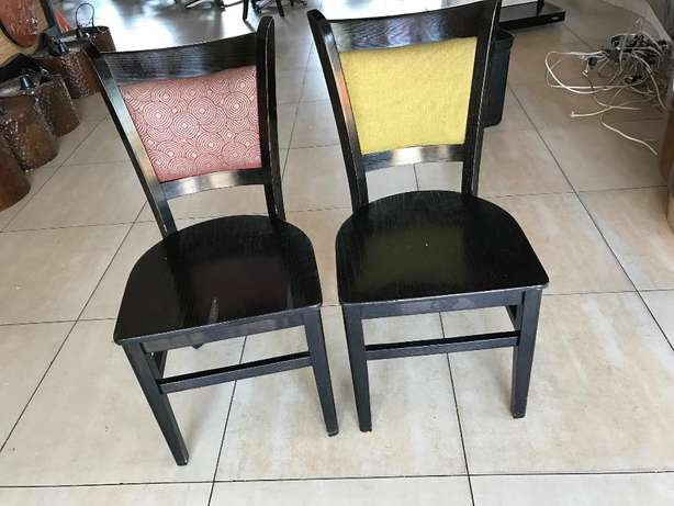 wooden chairs with fabric Vanderbijlpark - image 1