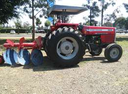 3Disc Plough and Mf 385 2WD,85 Horse Power,Perkins Engine,Warranty