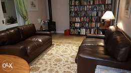 Set of Leather Couches