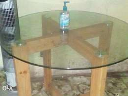 Solid Foreigh Glass Dining Table.