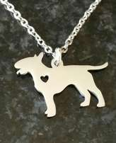 Stunning new Bull terrier dog pendant on chain