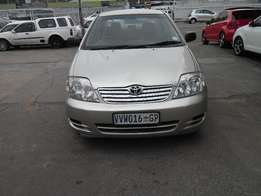 toyota corolla 1.6 auto 2007 model 85000km gold in color R78000