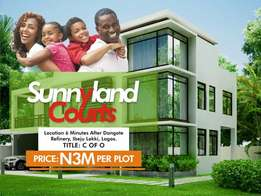 plot of land at sunny land courts with C of O