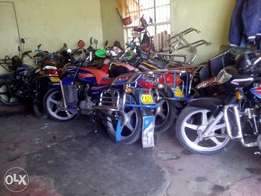Bussines man buying and selling of new and second hand motorbike