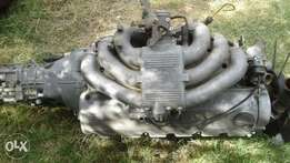 BMW 320 box shape engine and gearbox