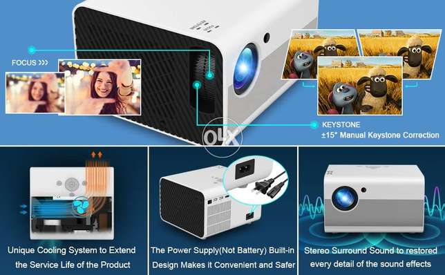 T10 Android 6.0,1080P Real Full HD Projector Native 1920x1080P 4500 Lu