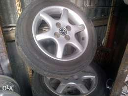 Vw Polo mags and tyres 14 inch