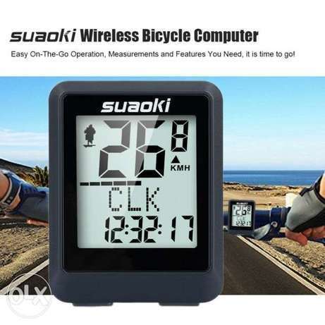 Suaoki Wireless Bicycle Computer, Speedometer, Bike Odometer, Backlit