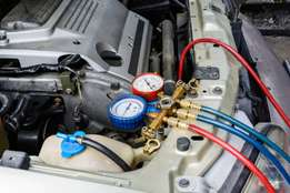 We refill/repair your car aircon to blow cold