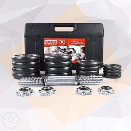 Olympia 30 Kg Black Painted Dumbbell Set