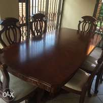 8 seater hand carved dining room set