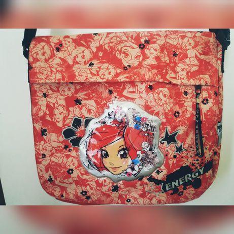 39c366ffaf622 Nowa duża torba szkolna na ramię.Oryginalna Disney witch czarodziejki  Zamość - image 2