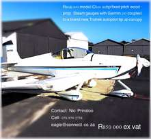 RV6 Aircraft for Sale ! Brilliant Buy !
