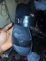 Men leather pu slippers