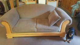 6 seater oak lounge suite