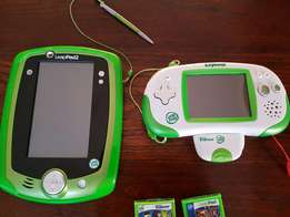 LeapPad 2 and Leapster Explorer with 5 games