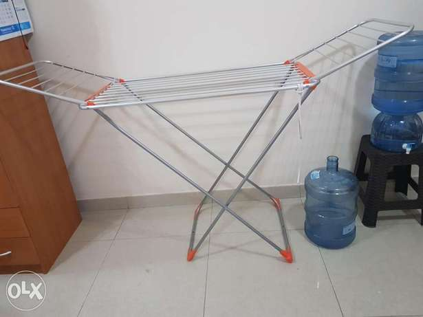 2 Table,2 round stool and cloth dryer stand