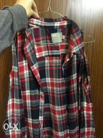 casual flannel with open shoulders