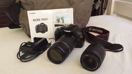 Canon EOS 1100D Digital SLR Camera + Lenses + all accessories