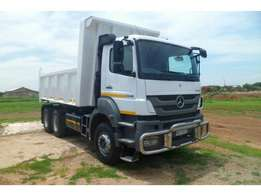 MERCEDES-BENZ AXOR 2628B/33 WITH 10 CUBE DOMEX tipper body for sale