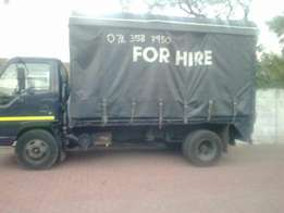 Truck for hire long and short distance