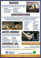We fix cars,trucks,earthmoving machines