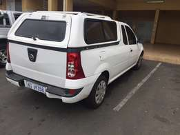 A sound & a workable bakkie with no accident white color with a lockab