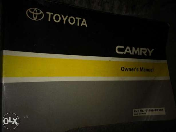Owner's Manual for a Toyota Camry