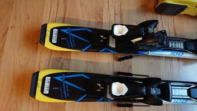 Narty jak NOWE 100cm Salomon X Race + wiązania EZYTrac