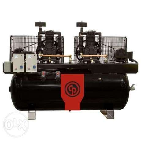 10HP + 10HP Air Compressors 900LTR Chicago Pneumatic -Italy