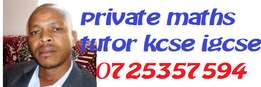 Mathematics teacher available for private tuition